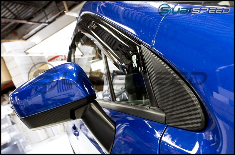 3D Carbon Fiber Quarter Window Trim Overlay