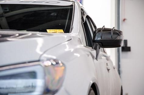 STI Type RA-R Dry Carbon Fiber Mirror Covers - 2015+ WRX / 2015+ STI