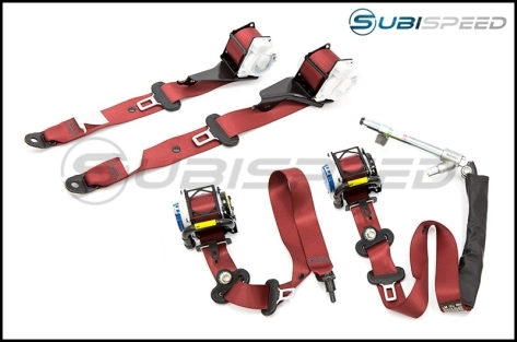Subaru USDM OEM Special Edition Type RA Red Seat Belt by Takata