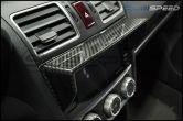 OLM Dry Carbon Stereo Visor - 2015-2021 Subaru WRX & STI / 2014-2018 Forester / 2013-2017 Crosstrek