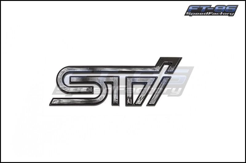 STI Gloss Black Emblem with Matte Black Border