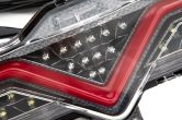 OLM VL Style Sequential 4th Brake Light / Reverse Light (Clear Lens, Carbon Look Base, Red Bar) - 2013-2020 FRS / BRZ / 86