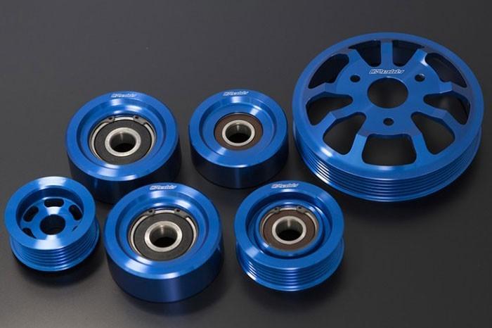 Greddy 6 Piece Aluminum Engine Pulley Kit
