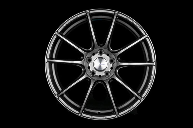 WedsSport SA-25R 18x8.5 +45 Platinum Silver Black - 2013-2020 FRS / BRZ / 86
