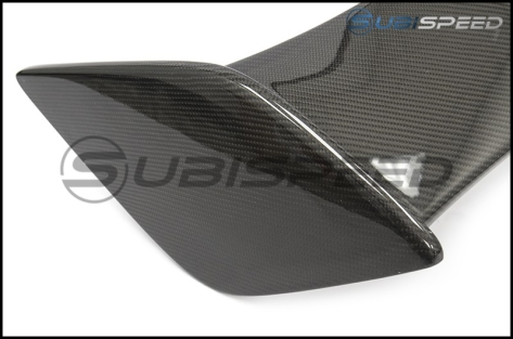 OLM Silverline Carbon OEM STI Style Spoiler with Black Bases - 2015+ WRX / 2015+ STI