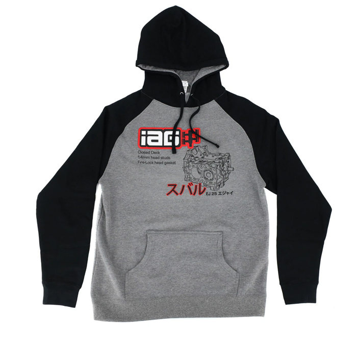 IAG Performance IAG Closed Deck Hoodie - Black and Gray