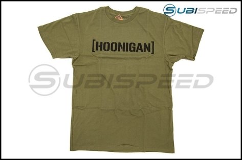 HOONIGAN Bracket Logo Short Sleeve Army / Black Tee