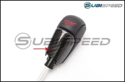 OLM LE Dry Carbon Fiber CVT Shift Knob Trim Cover - 2015+ WRX CVT / 2014+ Forester CVT