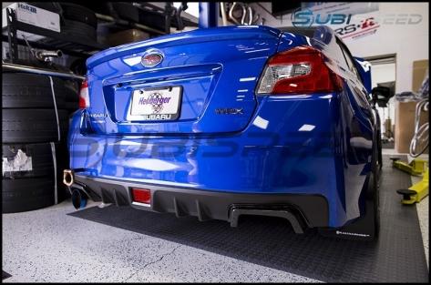 APR Carbon Fiber Rear Bumper Exhaust Finishers - 2015+ WRX / 2015+ STI