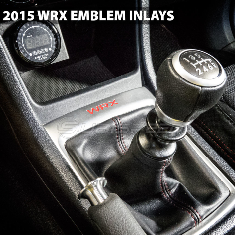 WRX Shifter Trim Plate Emblem Inlay