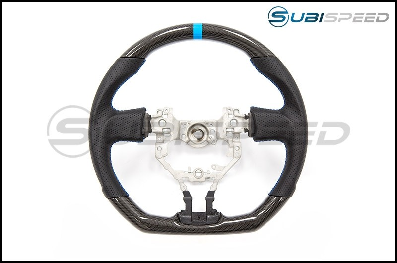 FT-86 SpeedFactory Carbon Fiber Blue Stitching Steering Wheel