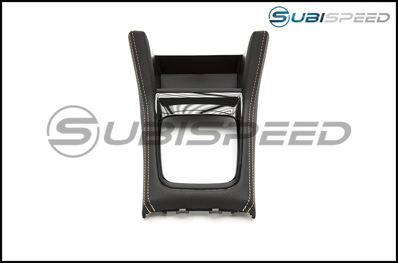 Subaru OEM JDM WRX S4 SporVita Shifter Console with Tan Stitching