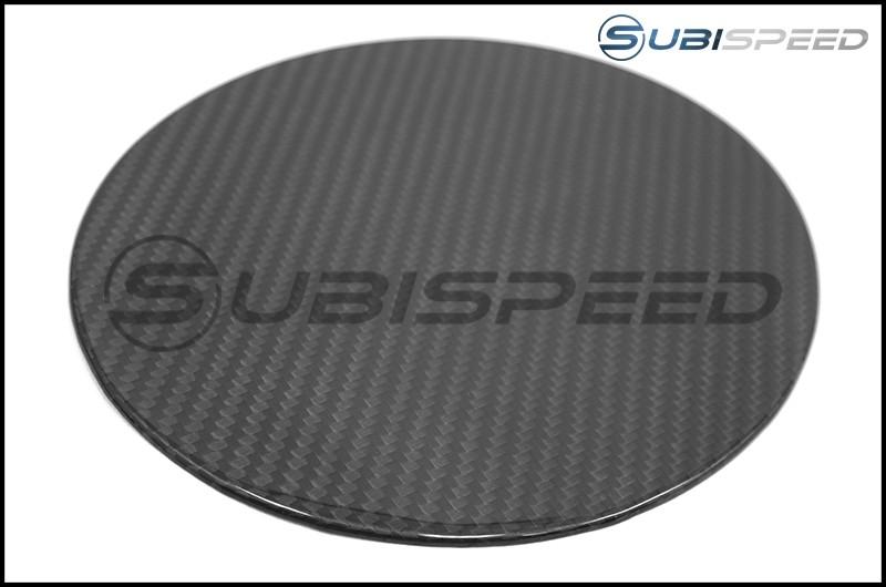 OLM S-line Carbon Fiber Fuel Door Cover - 17+ Impreza 4D