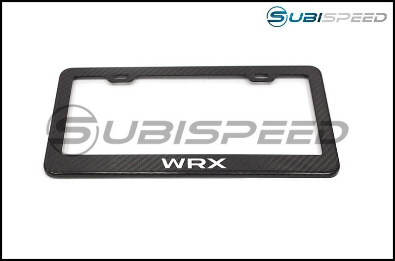 RSP WRX Logo Carbon Fiber License Plate Frame