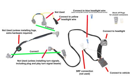 SubiSpeed V2 Redline Sequential LED Headlights - 2018-2020 WRX Limited / 2018-2020 STI