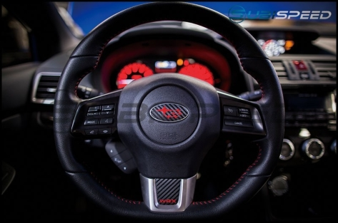 3D Carbon Steering Wheel Emblem Overlay Package
