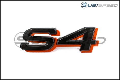 JDM Style Black and Red WRX S4 Emblem (Badge) - Universal