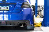 OLM Paint Matched Gloss Black Rear Bumper Lip - 2015-2020 Subaru WRX & STI