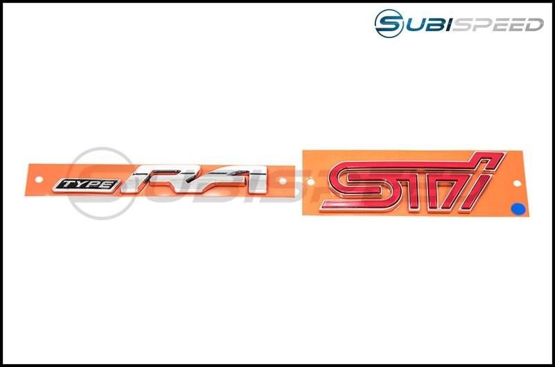 Subaru OEM Type RA Trunk Emblem