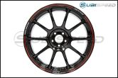 Volk Time Attack ZE40 Black / Red 18x9.5 +42 - 2013+ FR-S / BRZ / 86 / 2014+ Forester