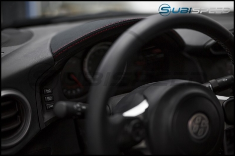 Subaru BRZ tS JDM Alcantara Black with Red Stitching Gauge Trim - 2013+ FR-S / BRZ / 86