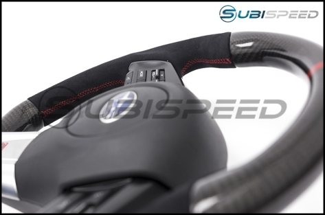 SubiSpeed CP Style Carbon Fiber / Alcantara Steering Wheel