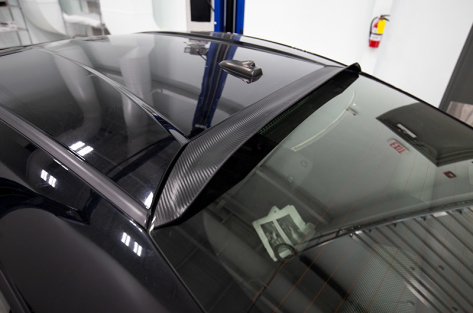 OLM Carbon Wrap Rear Window Roof Visor / Spoiler - 2013+ BRZ
