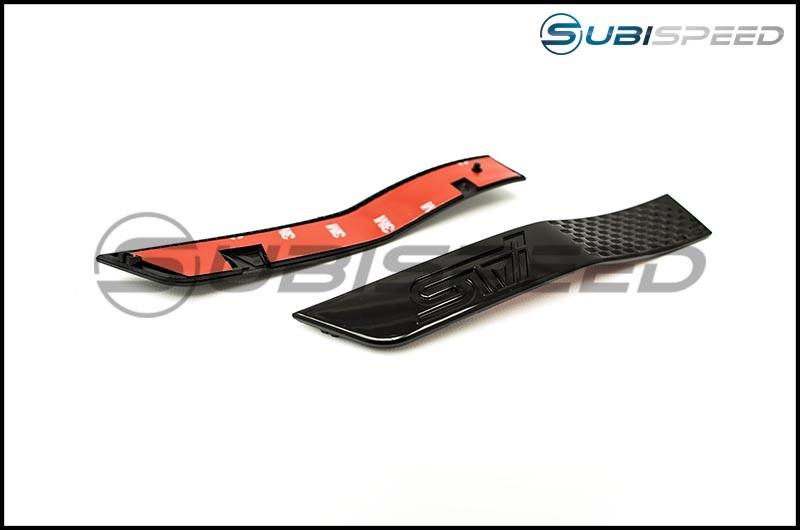 STI Gloss Black Fender Emblems