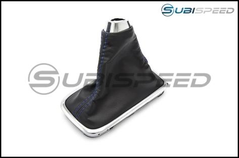 Subaru OEM JDM Shifter Boot Blue Stitching - 2015+ WRX
