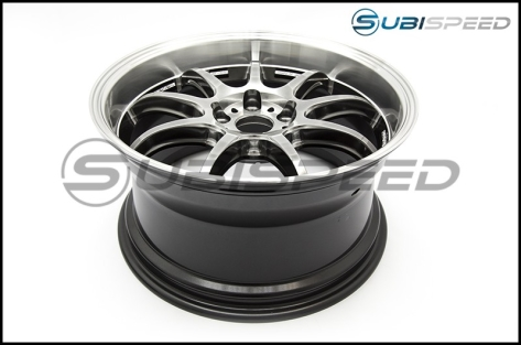 Work Emotion D9R 18x9.5 +38mm GT Silver Rim Cut - 2015+ WRX / 2015+ STI