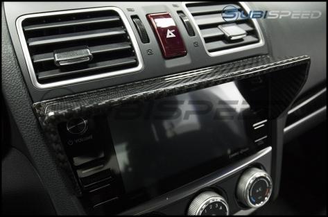 OLM Dry Carbon Stereo Visor - 2015+ WRX / 2015+ STI