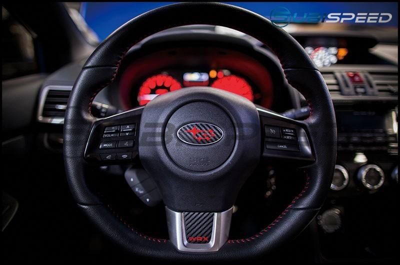3D Carbon Steering Wheel Emblem Overlay Package