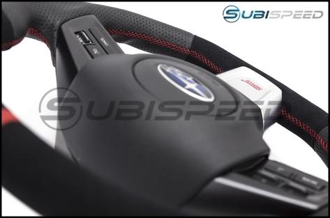 SubiSpeed KV Style Alcantara Fiber / Leather Steering Wheel - 2015+ WRX / 2015+ STI