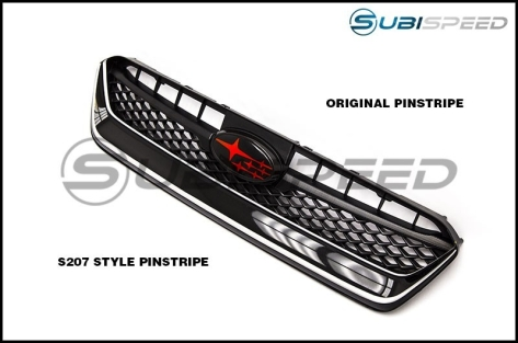 S207 Style Grille Pinstripe - 2015+ WRX / 2015+ STI