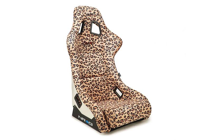 NRG Innovations FRP Bucket Seat Prisma Savage Edition - Brown Cheetah (Large)