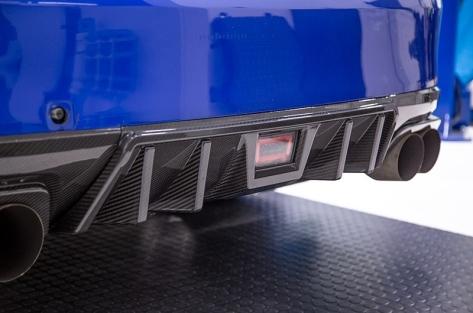 OLM LE Dry Carbon Fiber Rear Diffuser - 2015+ WRX / 2015+ STI