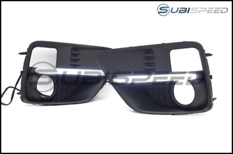 OLM Silverline S4 Style DRL Fog Light Bezels - 2015-2017 WRX / 2015-2017 STI