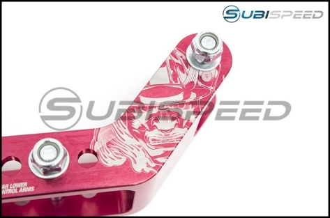 Stance Adjustable Red Lower Control Arms V2.0 60mm Drop (Rear) - 2015+ WRX / 2015+ STI / 2013+ FR-S / BRZ / 2014+ Forester