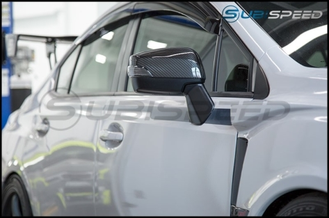 Carbon Reproductions Replacement Mirror Covers (With Turn Signal Hole) - 2015+ WRX / 2015+ STI