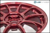 Volk ZE40 Hyper Red 18x9.5 +38 Face 2 - 2015+ WRX / 2015+ STI