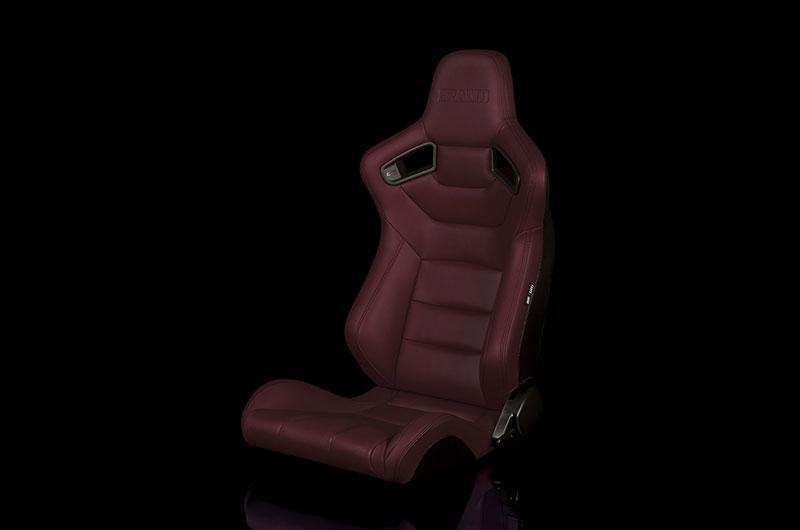 Braum Elite Series Sport Seats - Maroon Leatherette Pair