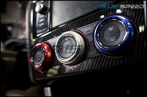 SubiSpeed Climate Control Knob Covers - 2015+ WRX / 2014+ Forester
