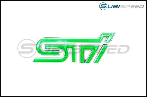 STI Leprechaun Green Trunk Emblem with Silver Border