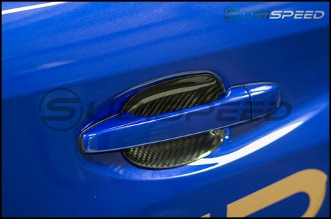 OLM S-line Dry Carbon Fiber Door Handle Inserts - 2015+ WRX / 2015+ STI