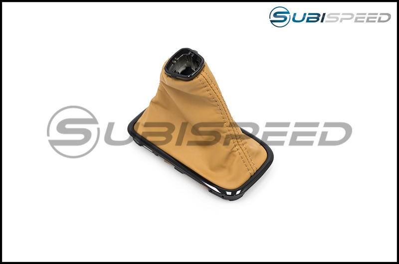 Subaru OEM S4 SporVita JDM Shifter Boot Tan Stitching