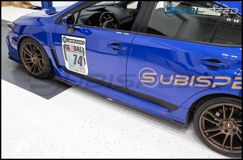 Sticker Fab 3D Carbon Exterior Lower Door Protection Overlays - 2015+ WRX / 2015+ STI