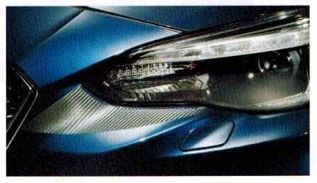 JDM Style 3D Carbon Fiber Headlight Accents