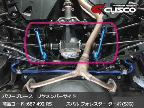 Cusco Rear Member Side Power Brace - 2015+ WRX / 2015+ STI / 2014+ Forester