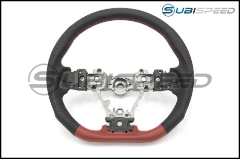 DAMD Steering Wheel Black and Red Leather with Red Stitch - 2014-2016 Forester / 2013-2016 Crosstrek