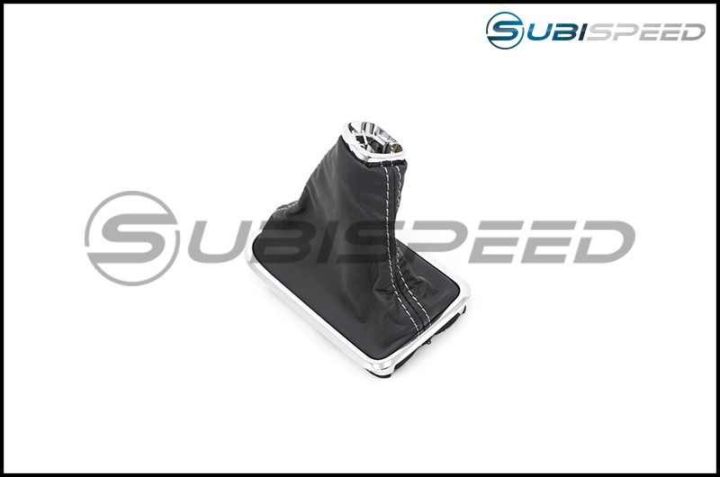 Subaru OEM S207 Style Shifter Boot Silver Stitching